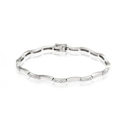 9K White Gold 0.33ct Diamond Bracelet, G1140